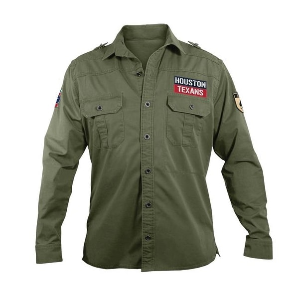 882ebed26 Shop Little Earth NFL Mens Military Shirt