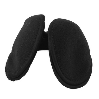 Unique Bargains Unisex Sport Winter Earmuffs Ear Warmer Cover Wrap Headband Black 2 Pcs