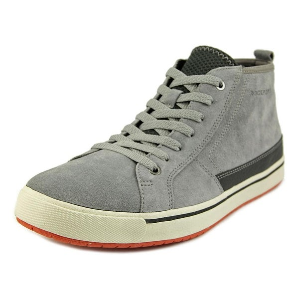 Rockport Path To Greatness Men  Round Toe Suede Gray Chukka Boot