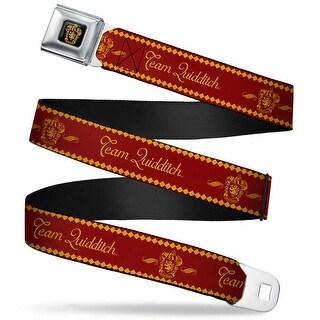 Gryffindor Crest Full Color Black Gold Team Quidditch Gryffindor Crest Red Seatbelt Belt