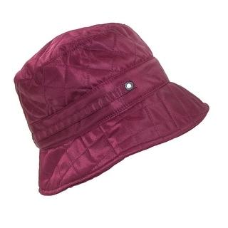 Betmar Women's Nylon Quilted Waterproof Bucket Rain Hat - One Size