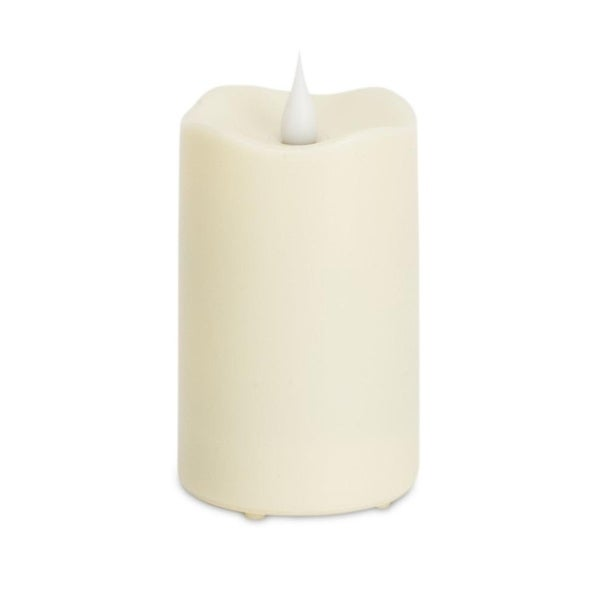 """Pack of 6 Soothing and Elegant White Flameless LED Pillar Candles 5.5"""""""
