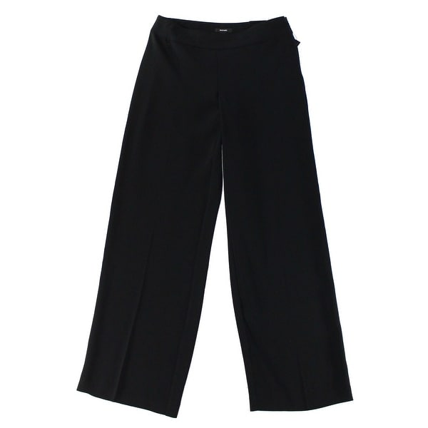 39283fc5b33db Shop Alfani NEW Deep Black Women s Size 14 Wide-Leg Solid Seamed Pants -  Free Shipping On Orders Over  45 - Overstock.com - 17769141