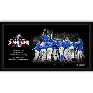 Chicago Cubs 2016 World Series Champions 10x20 Celebration Framed Collage