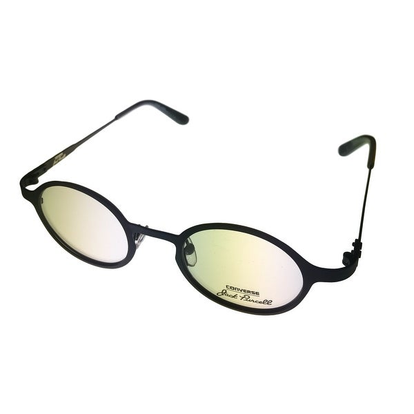 Converse Opthalmic Men Eyeglass Round Metal Frame Matte Black P005 Jack Purcell - matte black - Medi