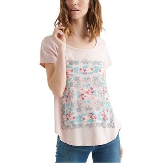 Link to Lucky Brand Womens Floral Graphic T-Shirt, pink, X-Large Similar Items in Tops