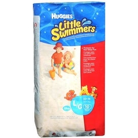 HUGGIES Little Swimmers Large 32+ LBS 10 Each