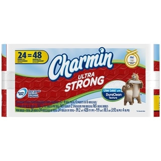 Charmin 80247419 Ultra Strong Regular Toilet Paper, 24 Double Roll