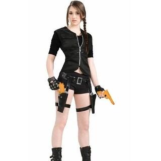 Treasure Huntress Lara Croft Tomb Raider Holster&Guns Costume PropSet - Black