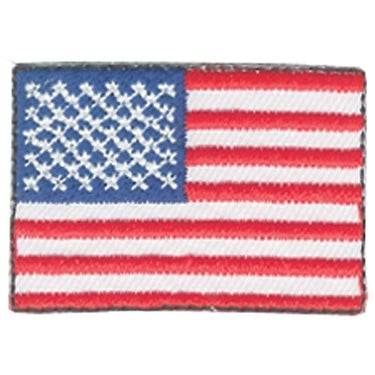 American Pride Decorative Patches-Small American Flags 2/Pkg