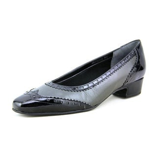 Mark Lemp By Walking Cradles Bradley Women N/S Square Toe Leather Gray Heels
