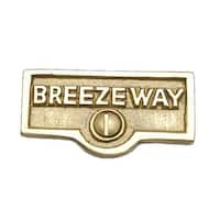 Switch Plate Tags BREEZEWAY Name Signs Labels Solid Brass   Renovator's Supply