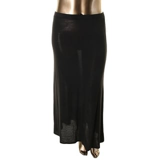 Lily White Womens Jersey Solid Maxi Skirt - S