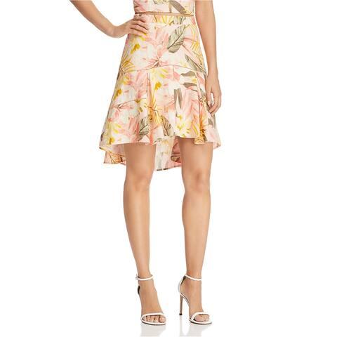 Joie Womens Radhiya Asymmetrical Skirt
