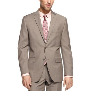 Alfani Khaki Solid Wool Blend Slim Fit Sportcoat 40 Regular 40R Suit-Separate