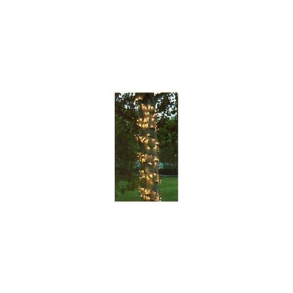 Wintergreen Lighting 15256 Mini 2' x 8' Trunk Wrap Lights with 100 Lamps and Green Wire