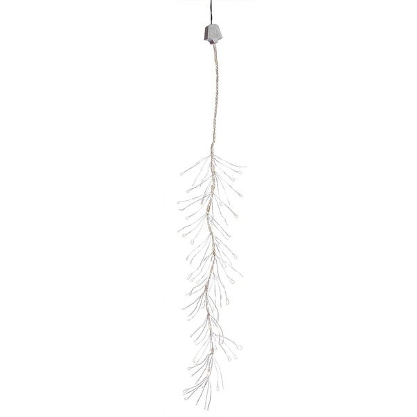 Set of 144 Warm White Multi-Function LED Snowfalling Branch Christmas Lights - CLEAR