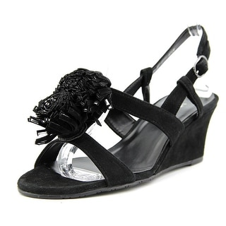 Vaneli Laycie Open Toe Suede Wedge Sandal