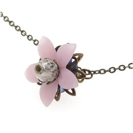 Floral Drop Lucite Necklace (Pink) - Exclusive Beadaholique Jewelry Kit