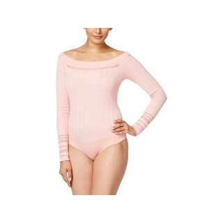 Marled Reunited Clothing Womens Bodysuit Off the Shoulder Illusion