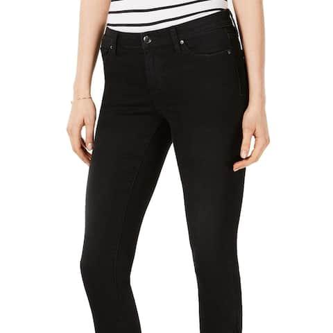 Joe's Trina The Icon Mid Rise Skinny Ankle Ruffled Hem Jeans Black