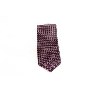 Designer Brand Red Novelty Candy Cane Men's Neck Tie Silk