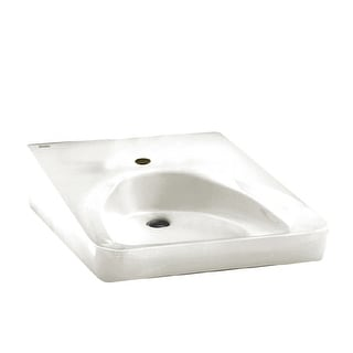 "American Standard 9140.047  Wheelchair 20"" Wall Mounted Porcelain Bathroom Sink - White"