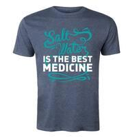 Saltwater Is The Best Medicine  - Adult Short Sleeve Tee