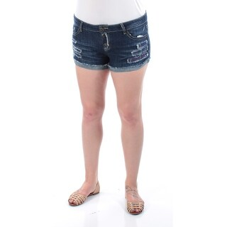 Womens Navy Casual Cuffed Short Size 15