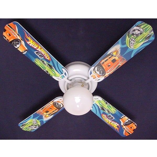 Mattel Hot Wheels Print Blades 42in Ceiling Fan Light Kit - Multi