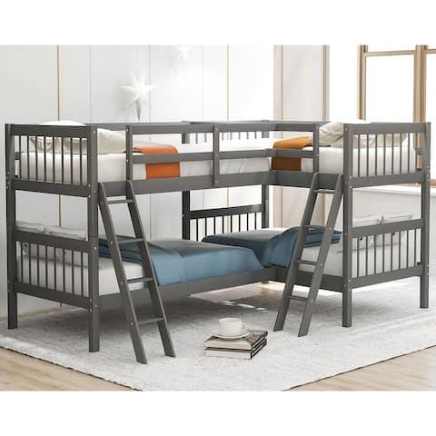 Merax L-Shaped Twin-size Bunk Bed