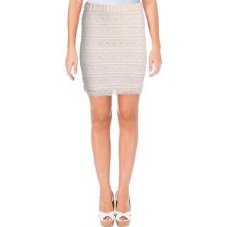 Aqua Womens Pencil Skirt Lace Mini