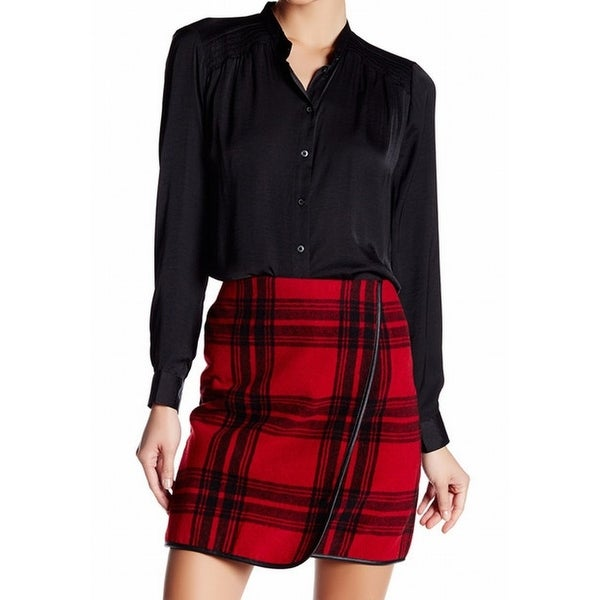 86f982a05 Shop Joe Fresh NEW Black Women's Size Small S Smocked Button Down Shirt -  Free Shipping On Orders Over $45 - Overstock.com - 18370446