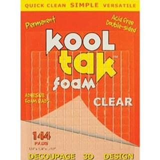 """Clear; .25""""X.25""""X.031"""" - Kool Tak 3D Foam Pads 144/Pkg"""