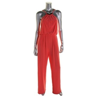 Vince Camuto Womens Lined Sleeveless Jumpsuit