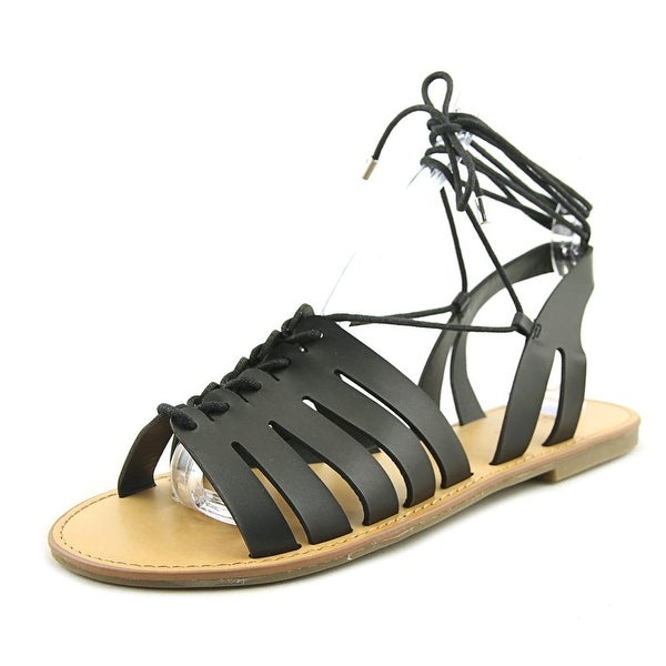 Indigo Rd. Baku Women Open Toe Synthetic Black Gladiator Sandal