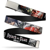 Blank Chrome  Buckle Attack On Titan Eren Battling Colossal Titan Web Belt - S