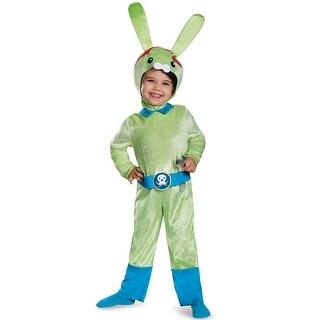 Disguise Tweak Bunny Classic Toddler Costume - Green/Blue