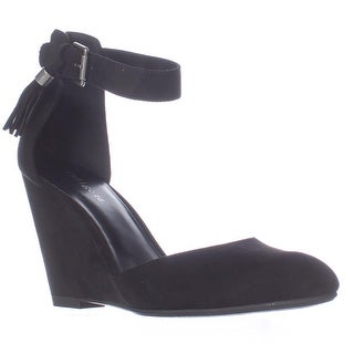 Indigo Rd. Earli Wedge Ankle Strap Heels - Black