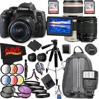 Canon EOS Rebel T6i DSLR Camera with 18-55mm Lens (Intl Model) and Canon EF 70-200mm f/4L IS USM Lens
