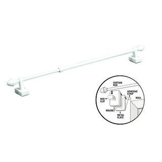 Magnetic Expandable Universal Curtain Rod - Works On Metal Or Wooden Frames!