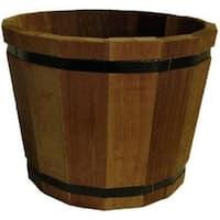 """Susquehanna MB17851Medium Outdoor Barrel Planter, 15"""" x 15"""" x 12"""""""