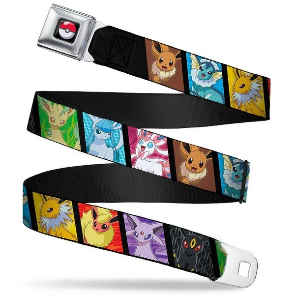 Pok Ball Full Color Black Eevee Pokemon Evolution Blocks Webbing Seatbelt Seatbelt Belt