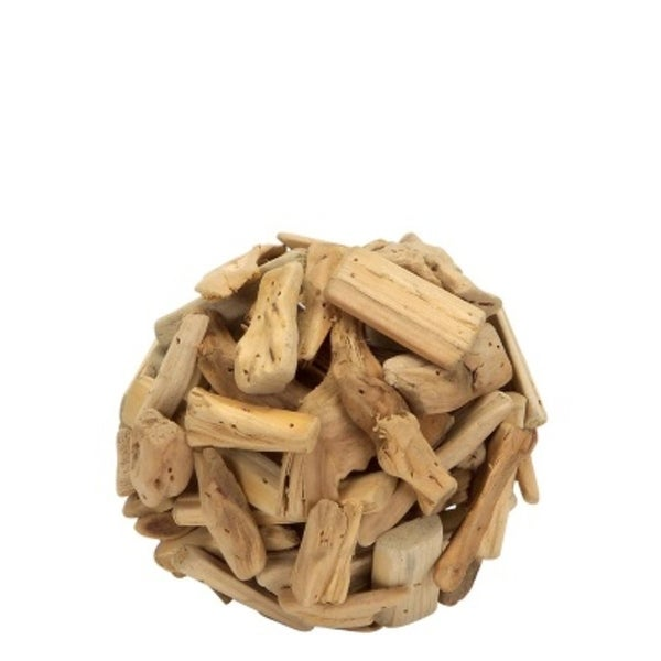 225 & Pack of 6 Driftwood Ball Table Top Decorations 6\