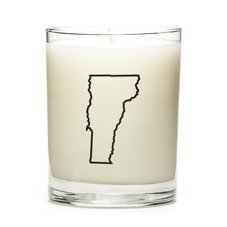 State Outline Candle, Premium Soy Wax, Vermont, Fine Bourbon