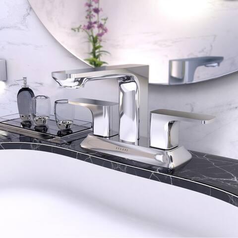 Corsica Collection. Centerset bathroom faucet. Gun Metal finish. By Lulani