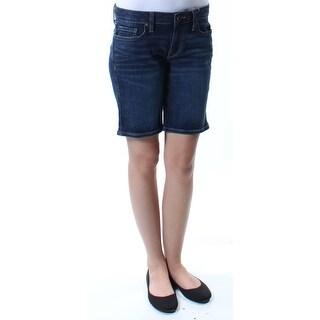 TOMMY HILFIGER $49 Womens New 1321 Blue Straight leg Casual Short 0 B+B