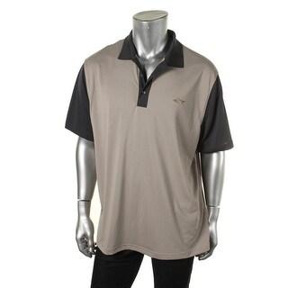 Greg Norman Mens Moisture Wicking Contrast Trim Polo Shirt
