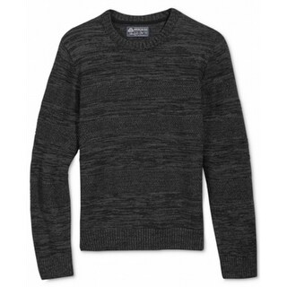 American Rag NEW Black Mens Size Medium M Mix-Stitch Crewneck Sweater