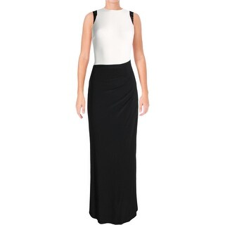 Lauren Ralph Lauren Womens Evening Dress Colorblock Embellished